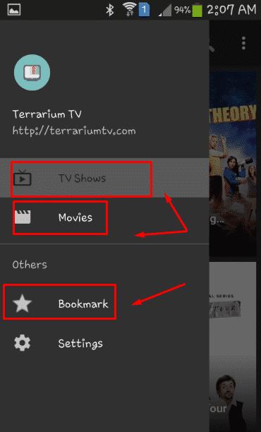 كيف تستخدم برنامج Terrarium TV