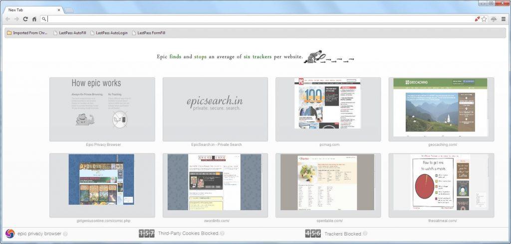 مميزات Epic Privacy Browser