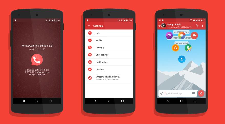 تنزيل تطبيق واتساب الأحمر ، WhatsApp Plus Red ، واتساب الأحمر
